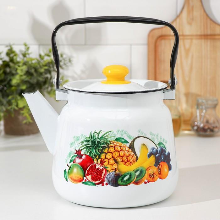 """Чайник 3,5 л сферический """"Эквадор"""", цвет белый - фото 709892"""