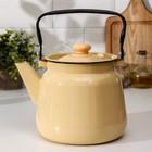 Чайник, 3,5 л, без деколи, цвет палевый