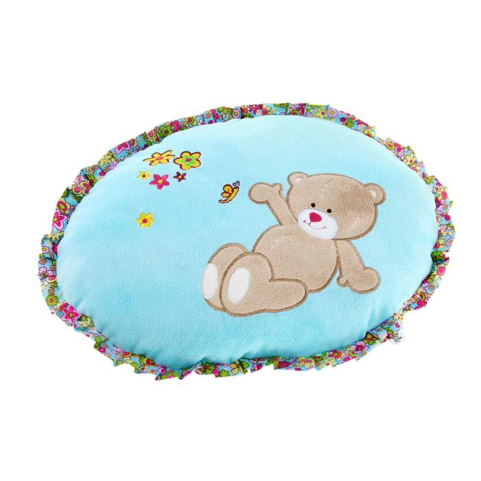Мягкая игрушка-подушка, круглая, мишка с пчелками - фото 105498493