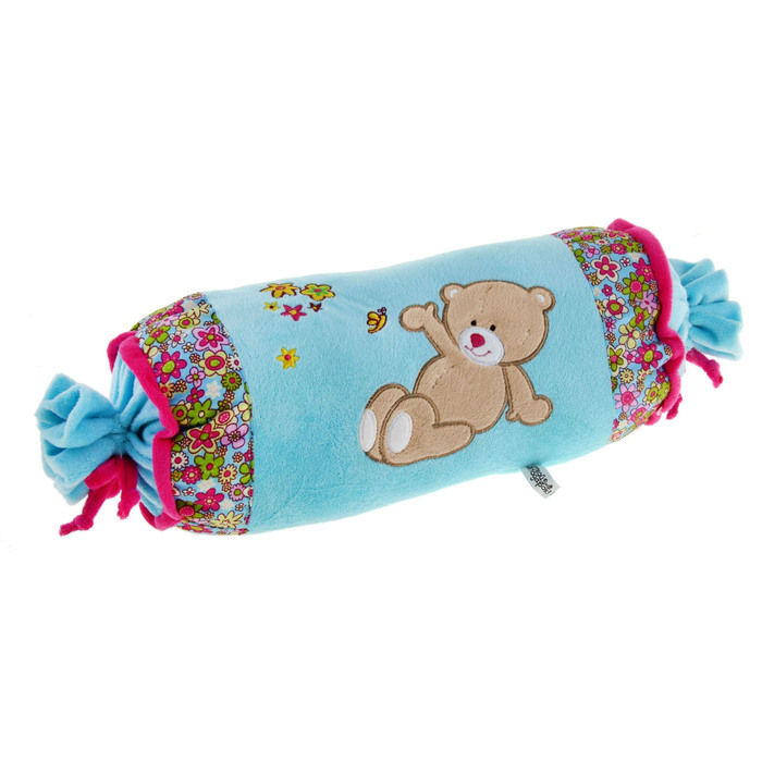 """Soft toy-pillow """"Bear with bees"""", oval"""