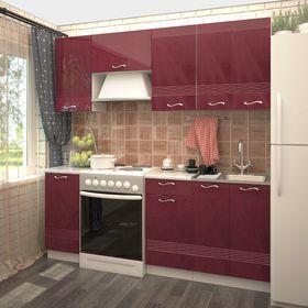 Кухонный гарнитур, 2000 мм, цвет Гламур, Волна