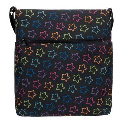 Сумка молодежная, отдел на молнии, наружный карман, регулируемый ремень, разноцветная