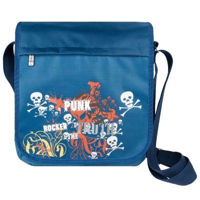 Сумка молодёжная на молнии, 1 отдел, наружный карман, цвет синий