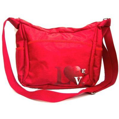 Сумка молодежная, отдел на молнии, наружный карман, цвет красный