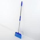 Швабра-веник Доляна, стальная ручка 84-120 см, насадка из микрофибры 27 см, цвет МИКС - фото 4646980