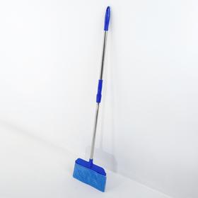 Швабра-веник Доляна, стальная ручка 84-120 см, насадка из микрофибры 27 см, цвет МИКС