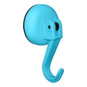 Крючок на вакуумной присоске, синий