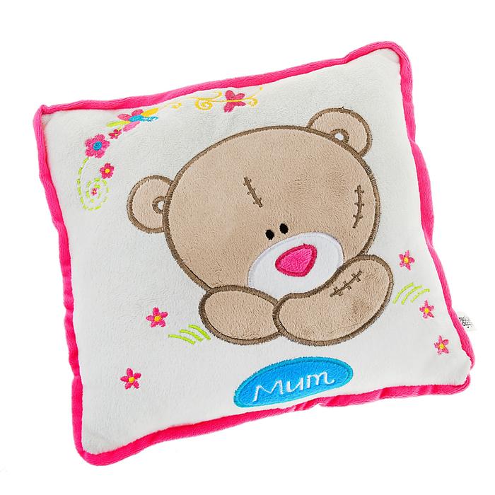 Мягкая игрушка-подушка квадратная с мишкой