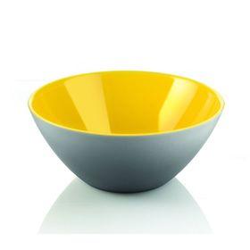 Салатница My Fusion 20 см серая/желтая