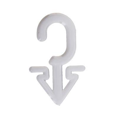 Крючок пластиковый, стрелка, L=4, цвет белый