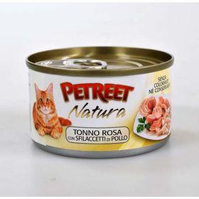 Влажный корм Petreet для кошек, куриная грудка с тунцом, ж/б, 70 г