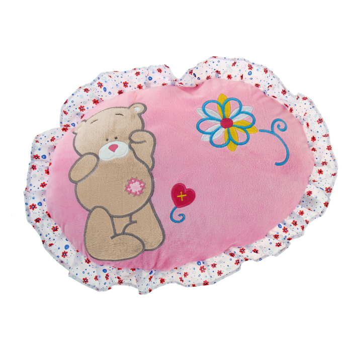 Soft toy pillow round pink bear