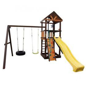 Детский спортивный комплекс уличный Perfetto sport Milano, 4490 × 4200 × 3400 мм, качели шина