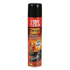 Краска для кожи Twist, чёрная, аэрозоль, 250 мл