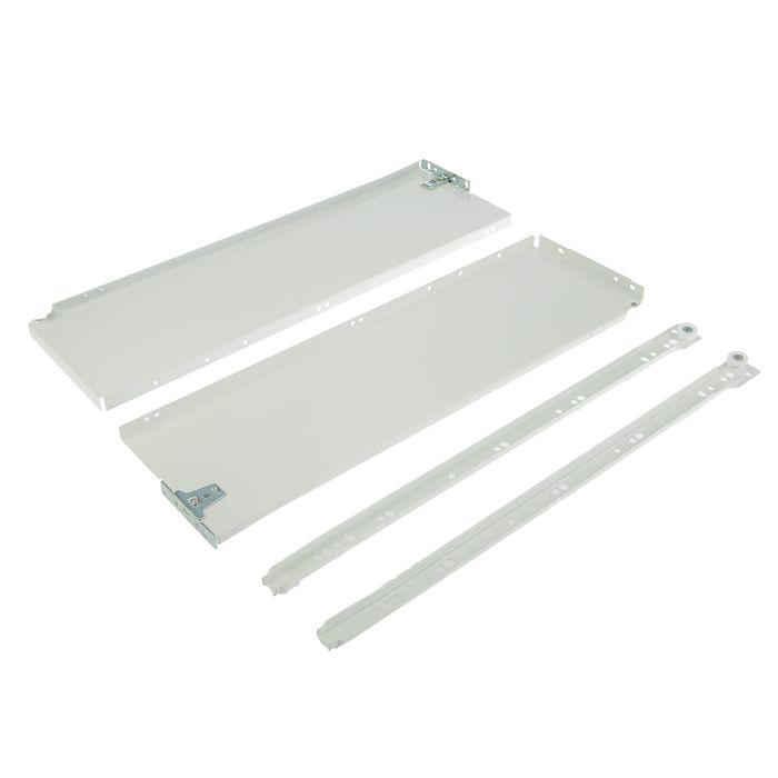 Металлобоксы, L=500 мм, H=150 мм, белый