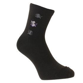 Носки женские, размер 23-25, цвет чёрный Ош