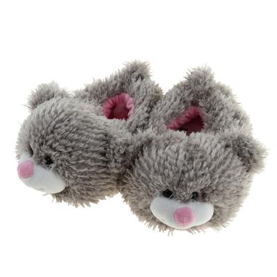 """Тапочки-зверушки """"Серый мишка"""", р-р 38"""