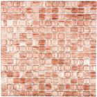 Мозаика стеклянная с камнем Bonaparte, Gold Stream 327х327х4 мм
