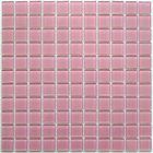 Мозаика стеклянная Bonaparte, Pink glass 300х300х4 мм
