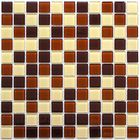 Мозаика стеклянная Bonaparte, Toffee mix 300х300х4 мм