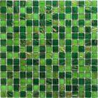 Мозаика стеклянная Bonaparte, Verde 327х327х4 мм