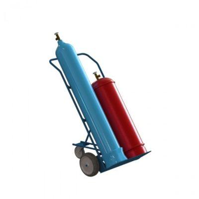 Тележка для баллонов пропан и кислород ТГК-П (с колесами)