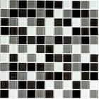 Мозаика стеклянная Bonaparte, Carbon mix 300х300х4 мм