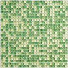 Мозаика стеклянная с камнем Bonaparte, Fine Green 300х300х4 мм