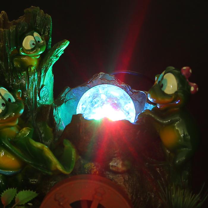 Фонтан лягушки у дерева 26 см (с подсветкой)