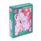 Пазлы «Белый медвежонок и котенок», 150 элементов