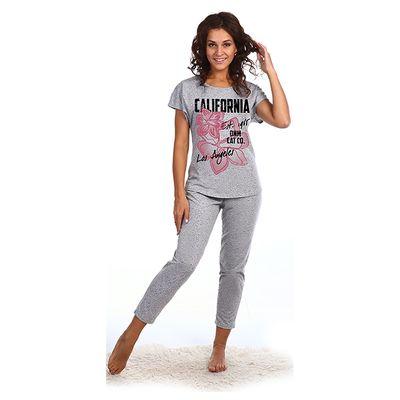 """Комплект женский """"Калифорния"""" (футболка, бриджи), размер 44, цвет серый меланж (арт. 716)"""