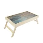 "Столик для завтрака ""Металл"" стеклянная поверхность 50х30см"