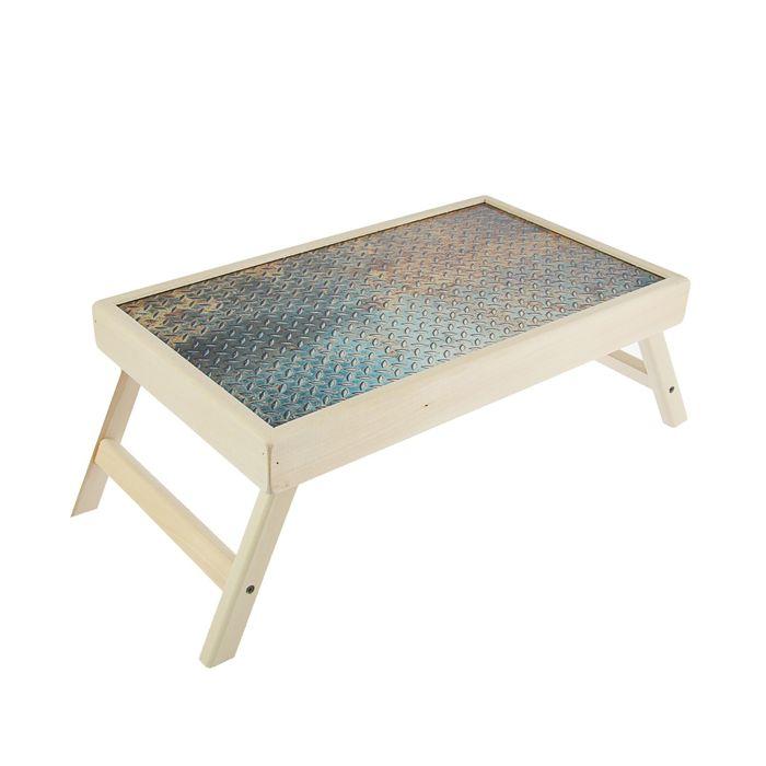 """Столик для завтрака """"Металл"""" стеклянная поверхность"""