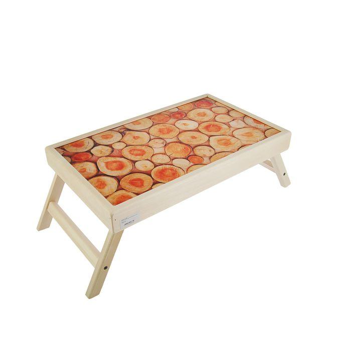 """Столик для завтрака """"Спилы"""" стеклянная поверхность"""