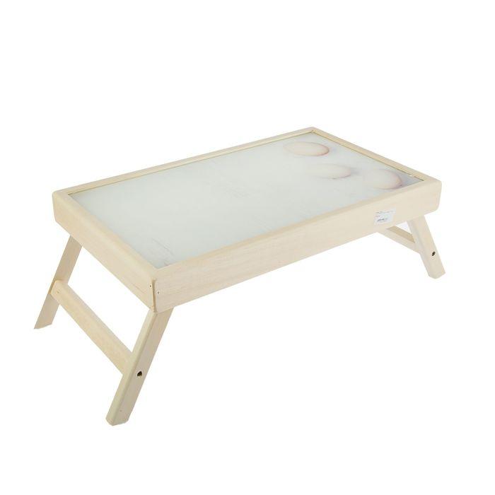 "Столик для завтрака ""Яйца"" стеклянная поверхность"