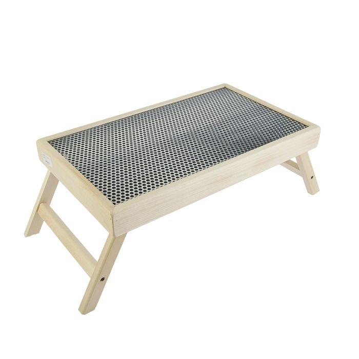"""Столик для завтрака """"Сетка металл"""" стеклянная поверхность"""