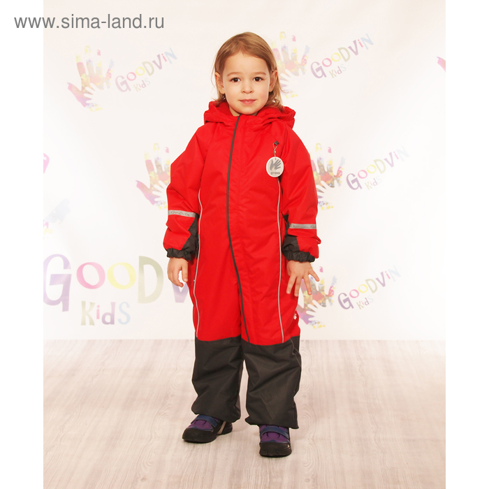 """Комбинезон для девочки """"МИЛА"""", рост 104 см (56), цвет красный КМ21117-11"""
