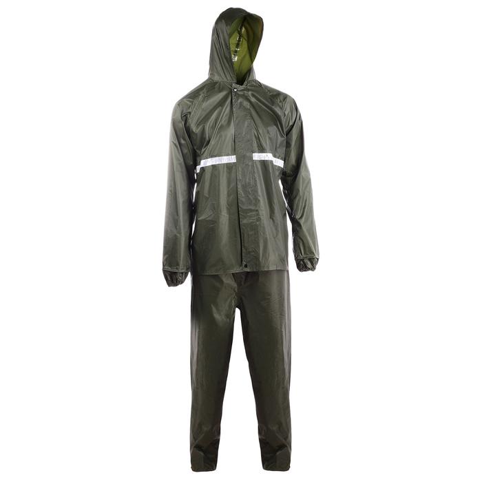 Дождевик-костюм, размер 50-54, цвет зелёный
