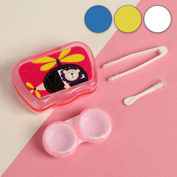 Набор для контактных линз «Мультяшка», 3 предмета, в футляре с зеркалом, цвет МИКС
