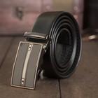 Ремень мужской, пряжка - автомат, ширина - 4 см, цвет чёрный