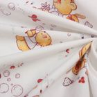 Фланель  Мишка и бабочки 160 г/м2, ш. 150 см, дл. 10 м, 100% хлопок