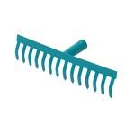 Грабли прямые, прямой зубец, 14 зубцов, металл, тулейка 28 мм, без черенка