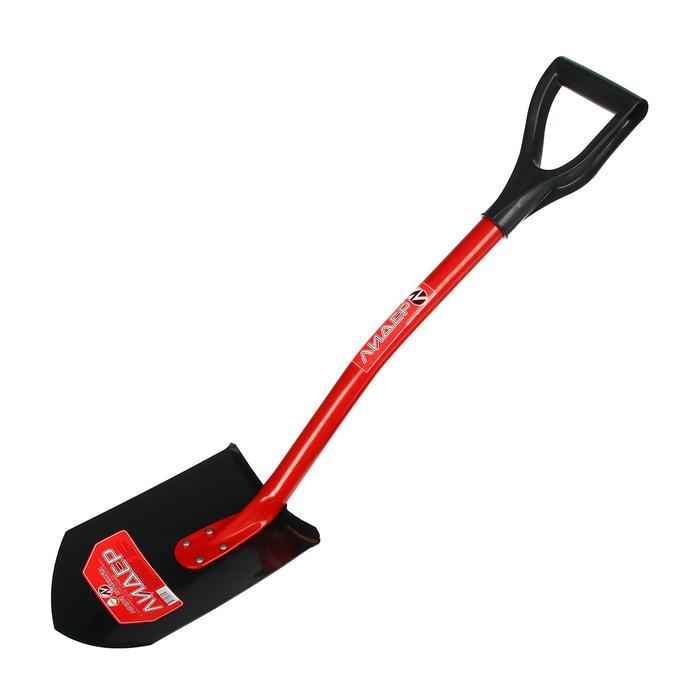 Лопата автомобильная, металлический черенок, с ручкой, «Лидер»