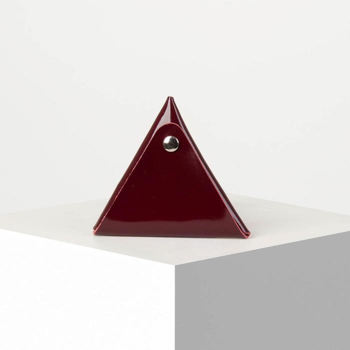 Футляр для монет и наушников на кнопке, цвет бордовый - фото 58852