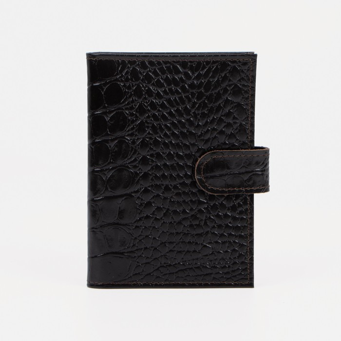 Обложка для автодокументов и паспорта, цвет коричневый
