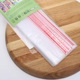 Пакеты с застёжкой многофункциональные «Зиплок», 18×25 см, 15 шт, прозрачные