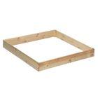 Песочница деревянная «Квадрат», без крышки, 138 х 147 х 20 см, сосна