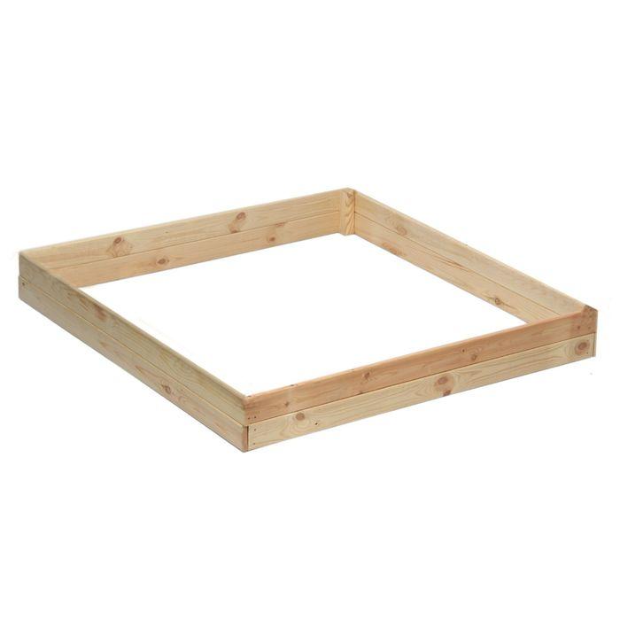 Песочница деревянная, без крышки, 138 х 147 х 20 см, сосна