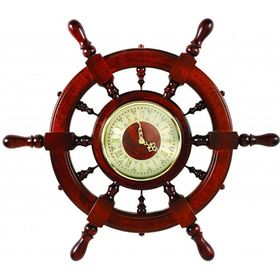 Штурвал сувенирный С11 часы Ош