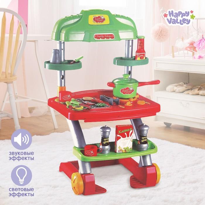 """Игровой модуль кухня """"Барбекю Бавария"""" на колёсах с аксессуарами, световые и звуковые эффекты, высота 60 см"""